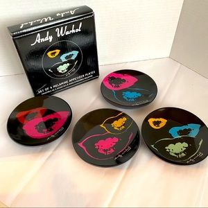 Andy Warhol set of 4 Melamine Appetizer plates